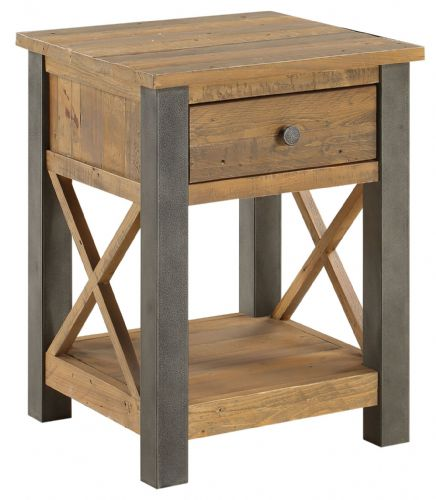 Urban Elegance Lamp Table with Drawer